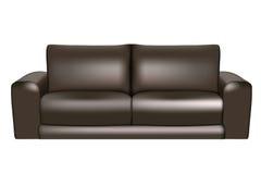 黑色沙发 免版税库存照片