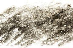 黑色泡沫墨水纹理 库存照片