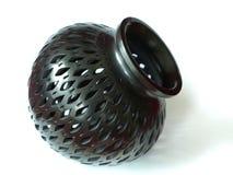 黑色泥花瓶 库存图片