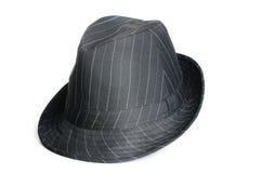 黑色浅顶软呢帽帽子 库存照片