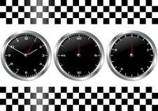 黑色测时器手表 免版税库存照片