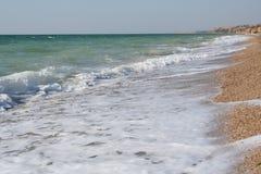 黑色海岸线克里米亚海运 免版税库存图片