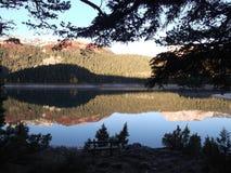 黑色湖 免版税库存照片