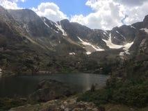 黑色湖 库存照片