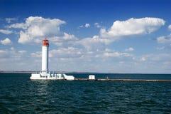 黑色灯塔海运 库存图片
