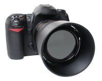 黑色照相机前面权利 免版税库存图片