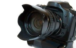黑色照相机数字式透镜照片象素 免版税库存照片