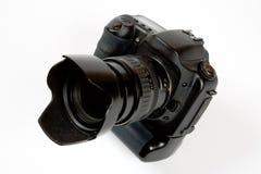 黑色照相机数字式透镜照片 库存照片