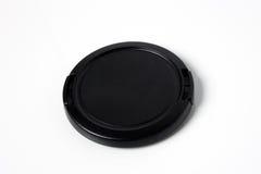 黑色照相机盖帽透镜 免版税库存照片