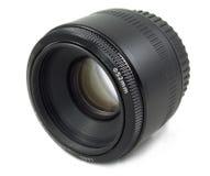 黑色照相机dslr查出的透镜 免版税库存图片