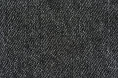 黑色牛仔布纹理 免版税库存照片