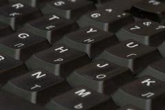 黑色特写镜头关键董事会 键盘样式 水平的样式 垂直的样式 免版税库存图片