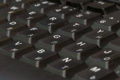 黑色特写镜头关键董事会 键盘样式 水平的样式 垂直的样式 免版税图库摄影