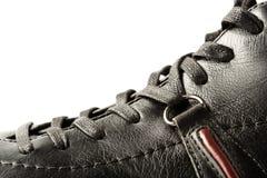 黑色特写镜头鞋子 免版税库存照片