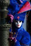 黑色狂欢节装饰屏蔽面具威尼斯 免版税图库摄影