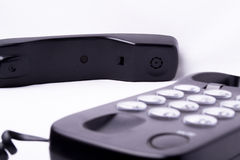 黑色现代电话 库存图片