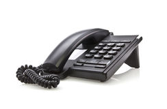 黑色现代电话 免版税图库摄影
