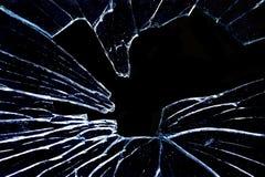 黑色玻璃喷气机打碎了 库存照片