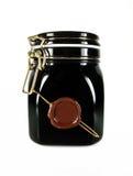 黑色玻璃瓶子 免版税库存图片
