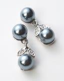黑色珠宝珍珠 免版税库存图片