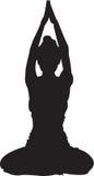 黑色瑜伽 免版税库存照片