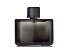 黑色瓶香水 免版税库存照片