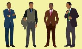 黑色生意人 免版税图库摄影