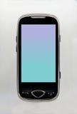 黑色电池绿色电话 库存照片