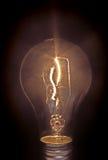黑色电灯泡光 免版税图库摄影