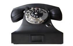 黑色电话葡萄酒 免版税库存图片