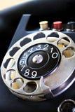 黑色电话葡萄酒 库存图片