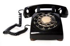 黑色电话葡萄酒 库存照片