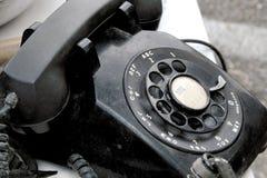 黑色电话 免版税图库摄影