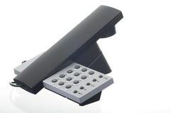 黑色电话 库存照片