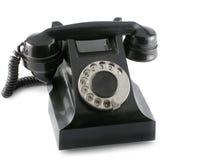 黑色电话 免版税库存照片