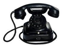 黑色电话 库存图片