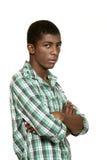 黑色男孩纵向 图库摄影