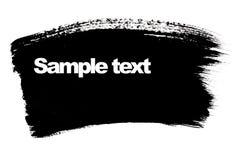 黑色画笔冲程 免版税图库摄影