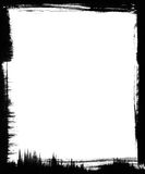 黑色画笔框架 免版税图库摄影