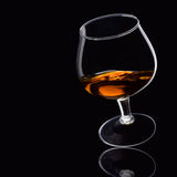 黑色白兰地酒 库存图片