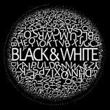 黑色白色 皇族释放例证