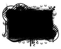 黑色的横幅倒空 库存图片