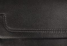 黑色皮革纹理 免版税图库摄影