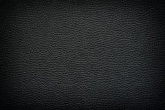 黑色皮革背景 图库摄影