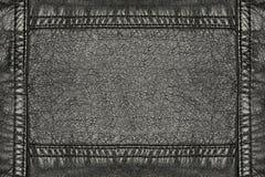 黑色皮革 免版税库存图片