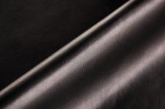 黑色皮革 库存图片
