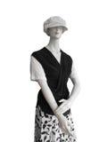 黑色盖帽manequin顶部白色 免版税图库摄影