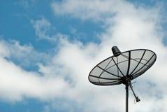 黑色盘卫星 免版税库存图片
