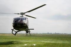 黑色直升机 库存照片