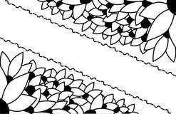 黑色看板卡空白色的花卉花的虹膜 库存照片